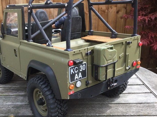 Crawler Number Plate (pair) - Military Land Rover in White Processed Versatile Plastic