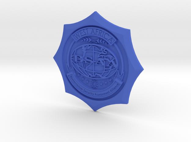 Emblem BSAA D50 in Blue Processed Versatile Plastic