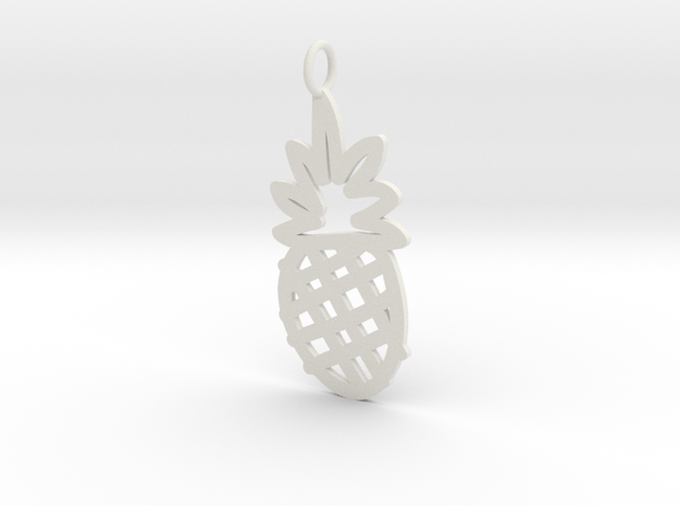 Large Pineapple Charm! in White Natural Versatile Plastic