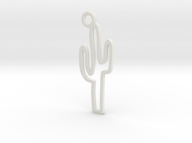 Cactus Charm! in White Natural Versatile Plastic