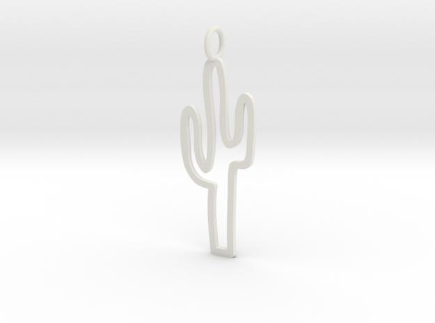Large Cactus Charm! in White Natural Versatile Plastic