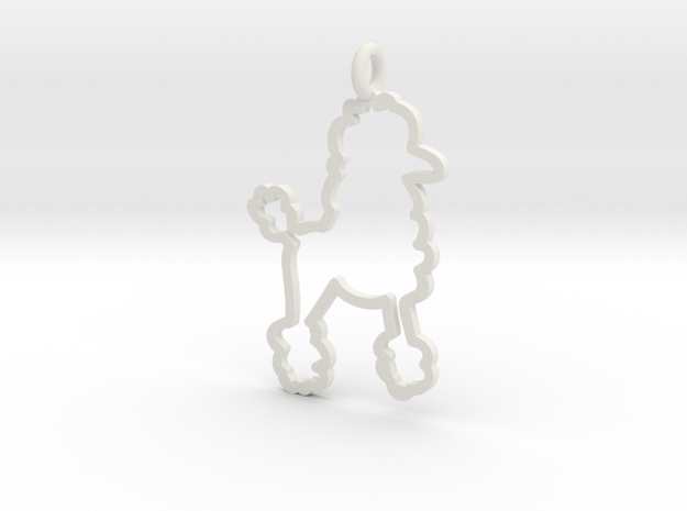 Poodle Charm! in White Natural Versatile Plastic