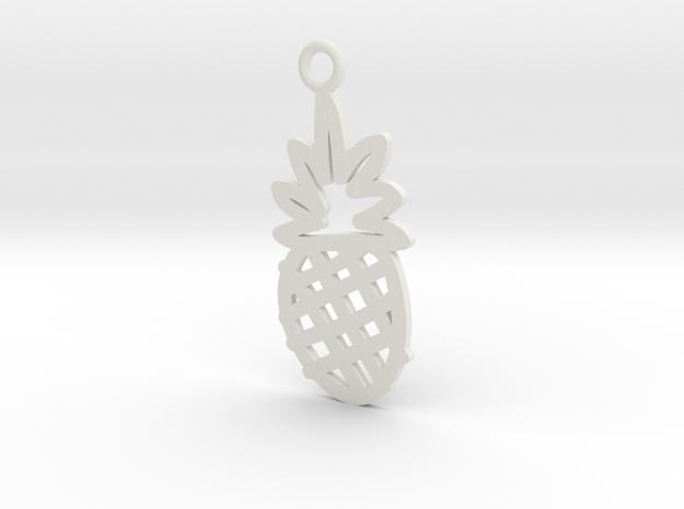 Pineapple Charm! in White Natural Versatile Plastic