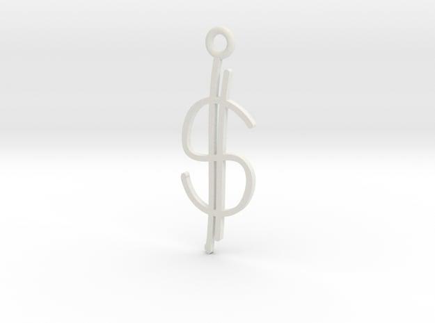 Money Charm! in White Natural Versatile Plastic