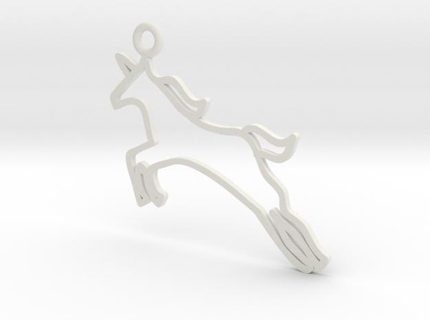 Unicorn Charm! in White Natural Versatile Plastic