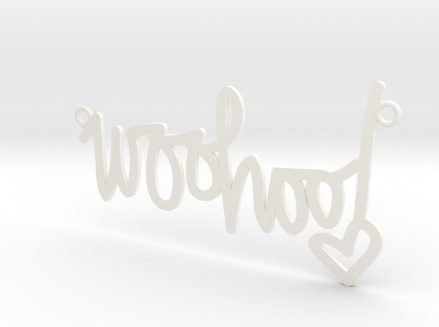 Woohoo Necklace! in White Processed Versatile Plastic