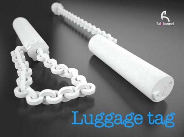 TUBE-Luggage tag in White Natural Versatile Plastic