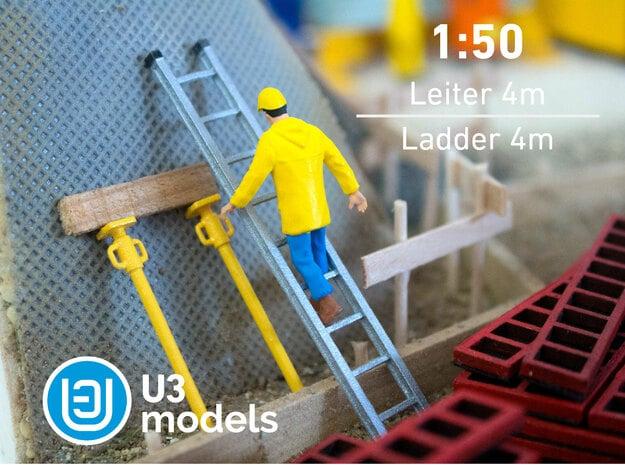 1:50 4M Leiter / Ladder / Escalera in Polished Bronzed Silver Steel