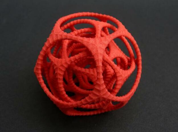 Gyro the Dodo in Red Processed Versatile Plastic: Medium