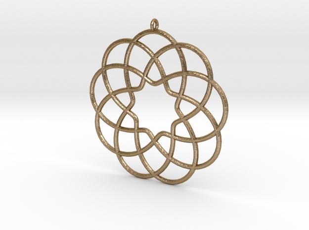 Cyclic-harmonic Pendant in Polished Gold Steel