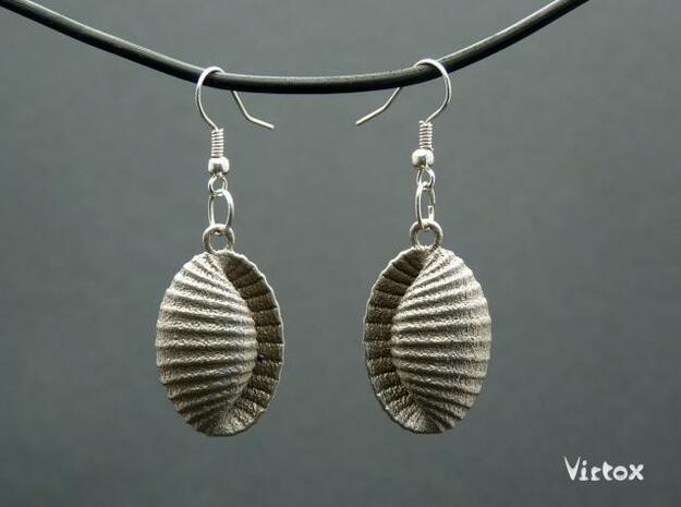 Earshells in Polished Bronzed Silver Steel