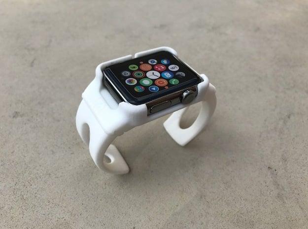 Apple Watch - 42mm Medium Band Style 5 in White Processed Versatile Plastic