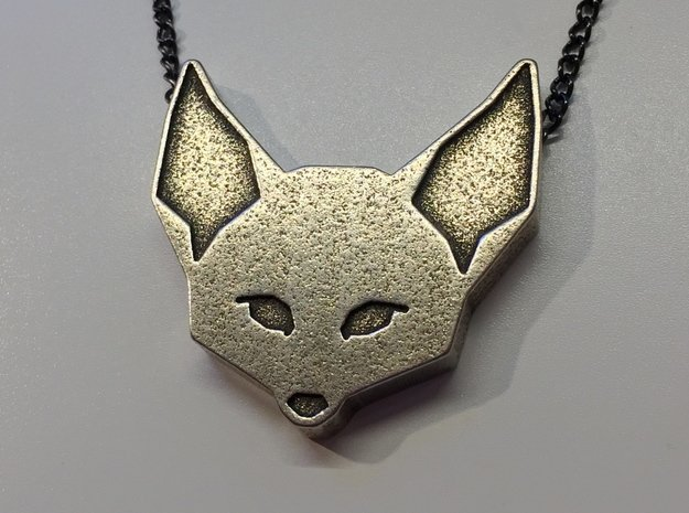 Fennec Fox Geometric Pendant