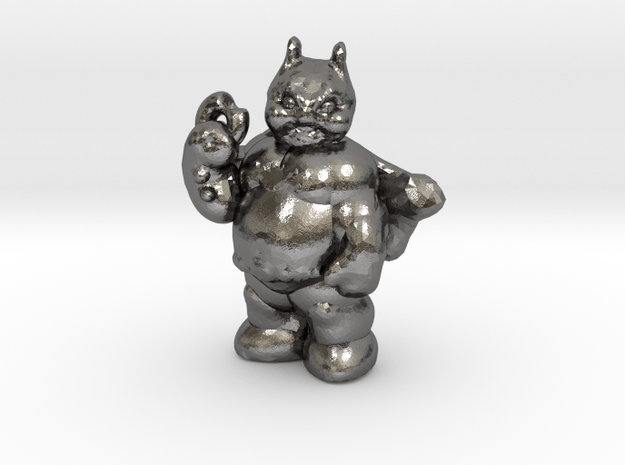 Fatman With Donut in Polished Nickel Steel