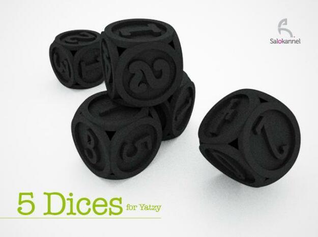 Font Yatzy -game in Black Natural Versatile Plastic