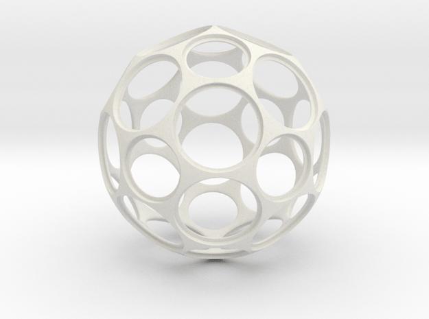 Coin Ball 25 1 in White Natural Versatile Plastic