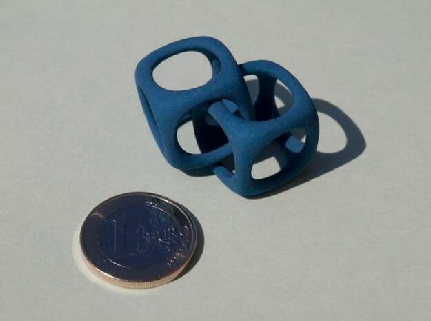 2 Cubes in Blue Processed Versatile Plastic