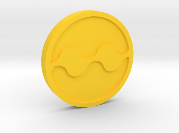 Quake Medallion in Yellow Processed Versatile Plastic