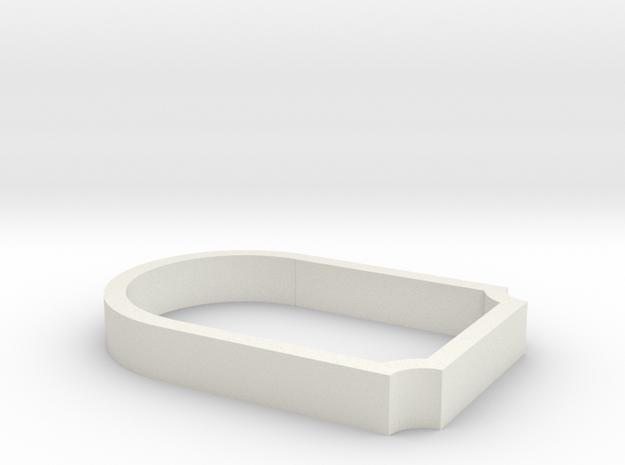 Parkhecke oval gekappt Ecken eingerückt (Buchsbaum in White Natural Versatile Plastic