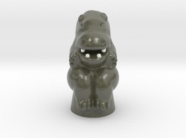 Hippo Game Token in Glossy Full Color Sandstone