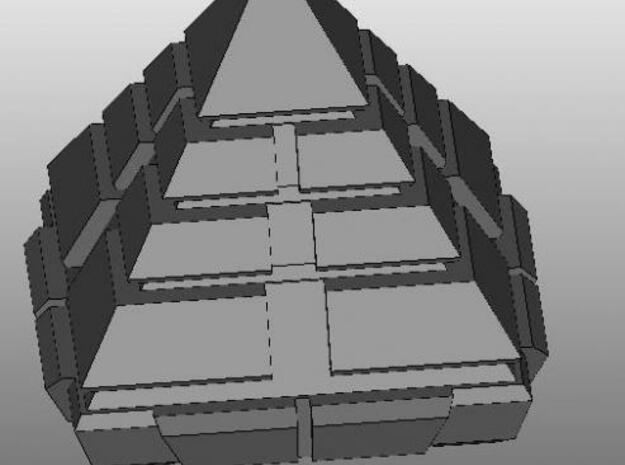 Pyramid ship in White Natural Versatile Plastic
