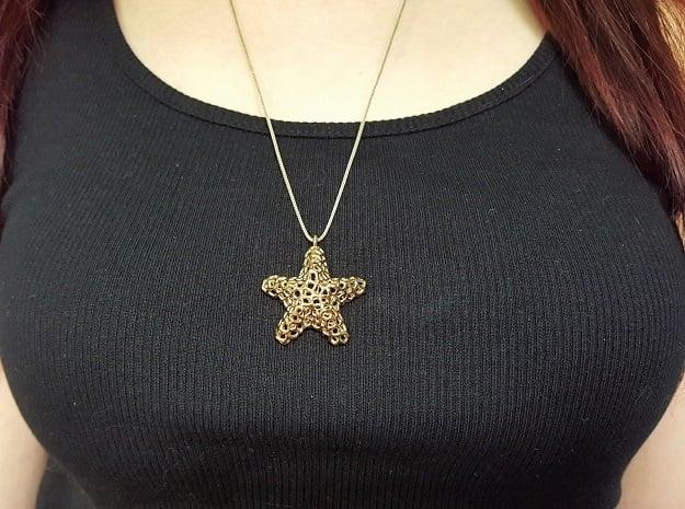 Starfish Pendant (Earrings) in Polished Bronze