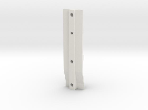 Pinball Drop Target Guide in White Natural Versatile Plastic