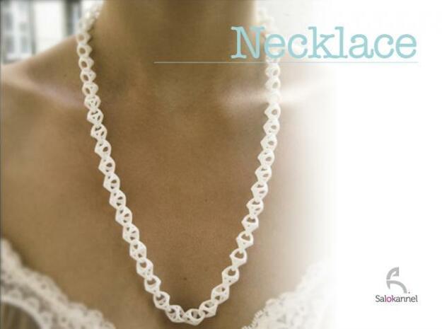 600-Necklace in White Processed Versatile Plastic