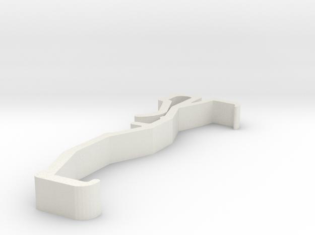 Blind Valance Clip 00158 in White Natural Versatile Plastic