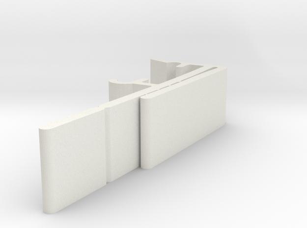 Vertical Valance Clip 1 1/2 A - 3 in White Natural Versatile Plastic