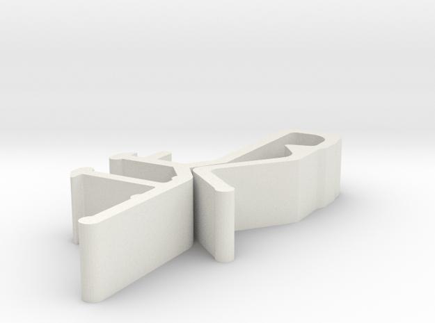 Blind Valance Clip 09H in White Natural Versatile Plastic