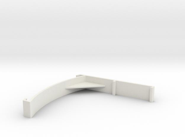 Vertical Valance Panel 858 in White Natural Versatile Plastic