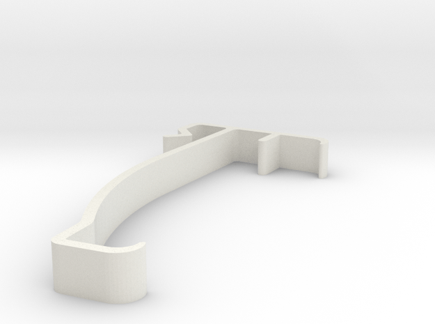 Blind Valance Clip 16 in White Natural Versatile Plastic