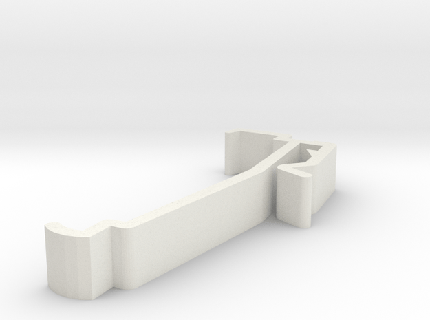 Blind Valance Clip 54 in White Natural Versatile Plastic