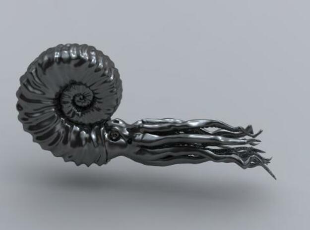Ammonite 8.4 cm in Smooth Fine Detail Plastic