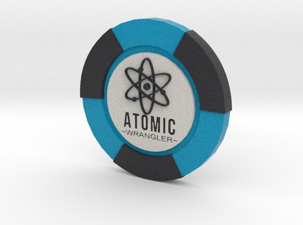 Atomic Wrangler Poker Chip in Full Color Sandstone
