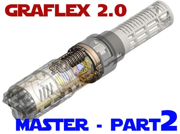 Graflex2.0 - Master Chassis - 2/7 Shell 1 in White Natural Versatile Plastic