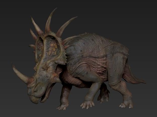 Styracosaurus (Medium / Large size) in White Natural Versatile Plastic: Medium