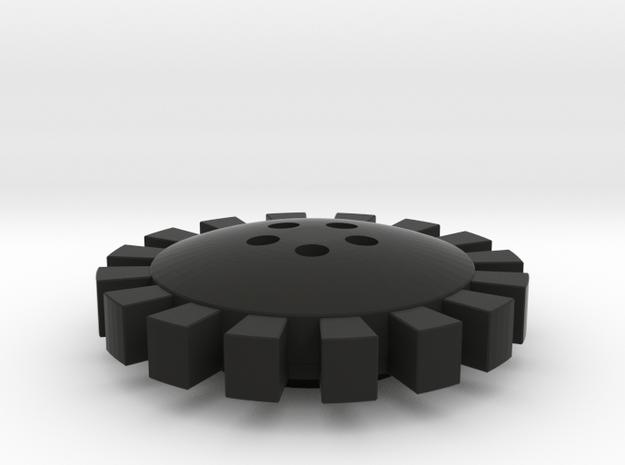 Knight Rider Wheel Cover 02 in Black Natural Versatile Plastic