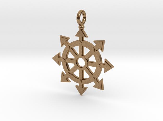 Chaos star wheel pendant