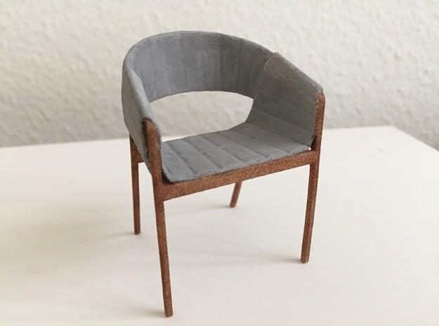 Swiss Design Chair in 1:12 in White Processed Versatile Plastic