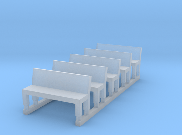 Bench type A - Z scale 1:220 in Smoothest Fine Detail Plastic