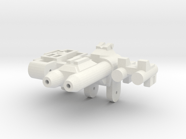 Gunmaster #3, Short-Barrel Kit, 5mm Handle in White Natural Versatile Plastic