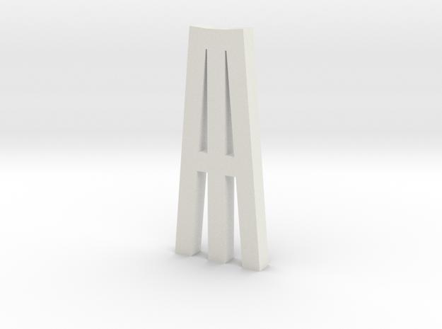 Duckdalben 3er mit Innenstreben 1:120 in White Natural Versatile Plastic