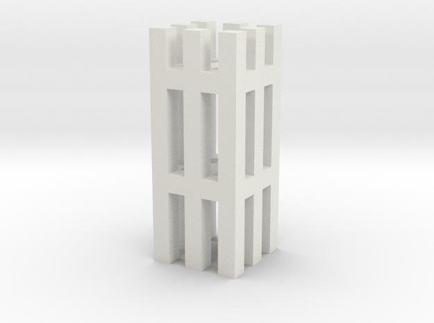 Duckdalben 8er mit Innenstreben 1:120 in White Natural Versatile Plastic