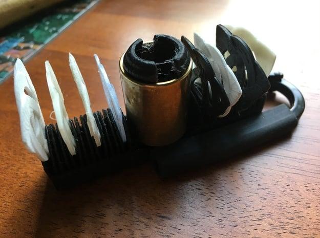 Guitar Pick And Slide Clip in Black Natural Versatile Plastic