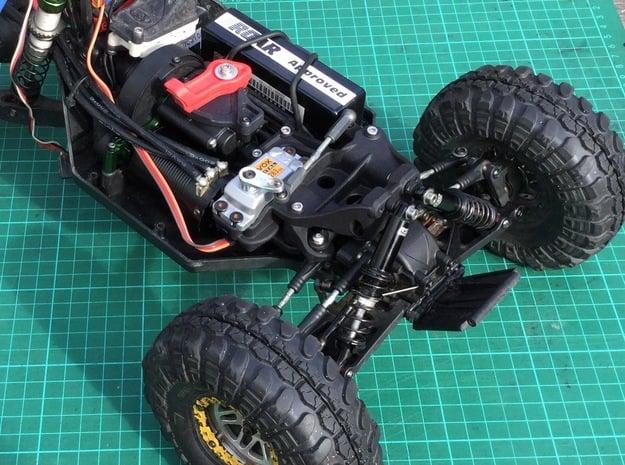 Twin Hammers / WL10428 Steering & Upright Shock Up in Black Natural Versatile Plastic