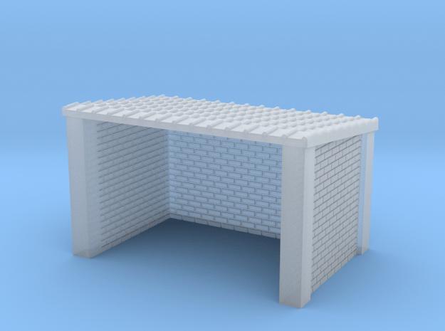 N Gauge Brick Bus Shelter in Smooth Fine Detail Plastic