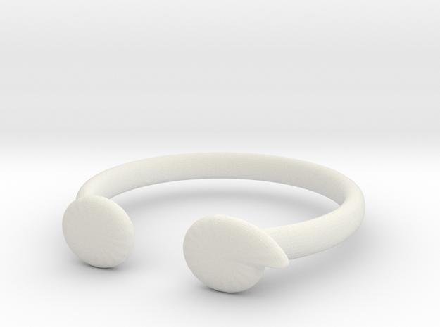 Semi-Colon Ring in White Natural Versatile Plastic: 6 / 51.5