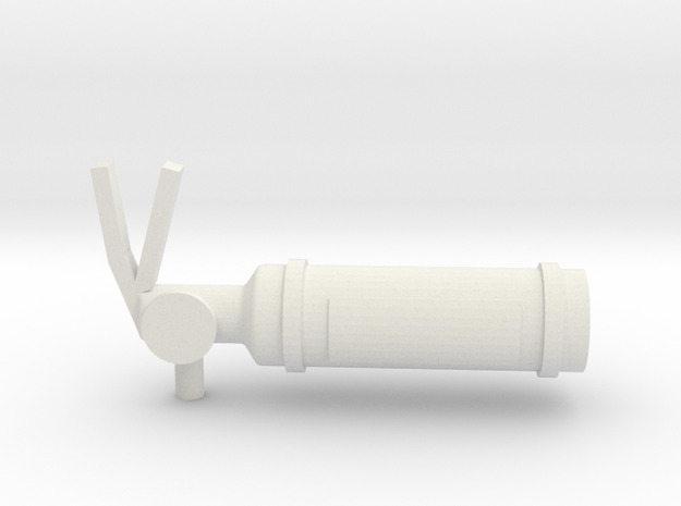 1/10 Scale Fire Extinguisher  in White Natural Versatile Plastic